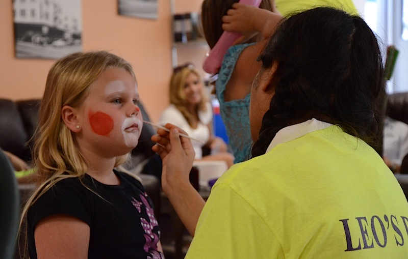 Face Painting At The Taylor Fundraiser