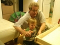 Owner Frank With His Grandson Building A Wagon